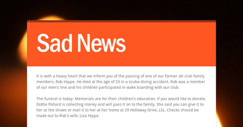 Sad News | Smore Newsletters for Education