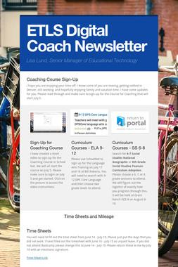 ETLS Digital Coach Newsletter
