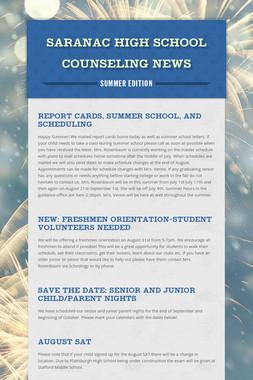 Saranac High School Counseling News