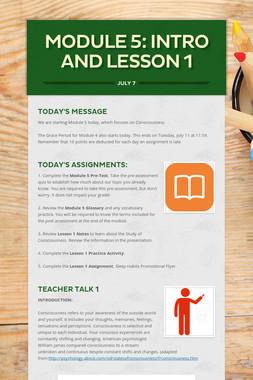 MODULE 5: INTRO AND LESSON 1