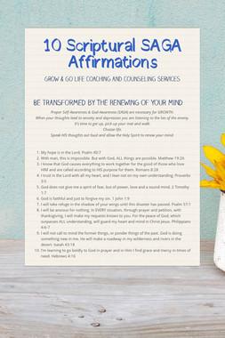 10 Scriptural SAGA Affirmations