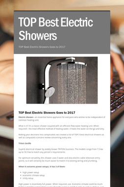 TOP Best Electric Showers