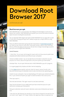 Download Root Browser 2017