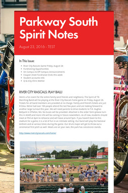 Parkway South Spirit Notes