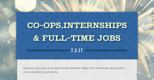 Co-ops,Internships & Full-time Jobs | Smore Newsletters for Education