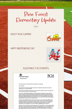 Pine Forest Elementary Update