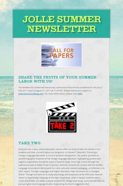 JoLLE Summer Newsletter