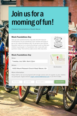 Join us for a morning of fun!