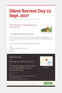 Silent Retreat Day 23 Sept. 2017