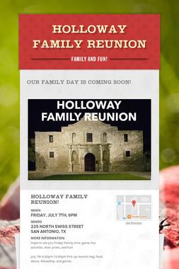 Holloway Family Reunion