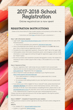 2017-2018 School Registration