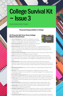 College Survival Kit ~ Issue 3