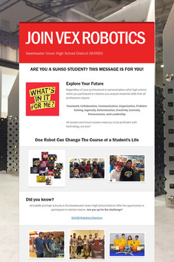 JOIN VEX ROBOTICS