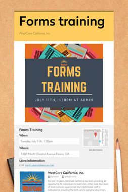 Forms training