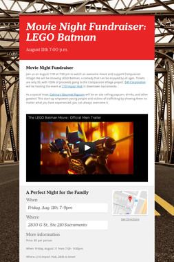 Movie Night Fundraiser: LEGO Batman