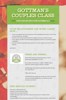 Gottman's Couples Class