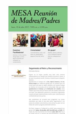 MESA Reunión de Madres/Padres