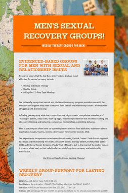 Men's Sexual Recovery Groups!