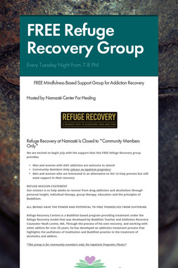FREE Refuge Recovery Group