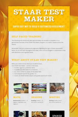 STAAR Test Maker