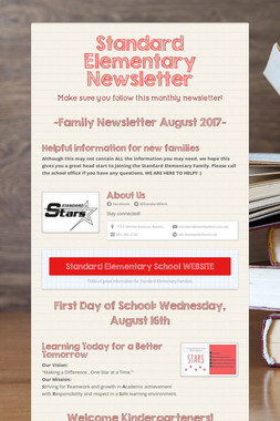 Standard Elementary Newsletter