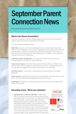 September Parent Connection News