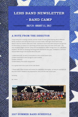 LEHS Band Newsletter - BAND CAMP