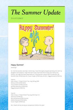 The Summer Update