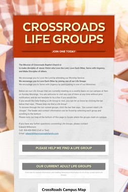 Crossroads Life Groups