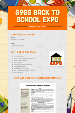 S9GS Back to School Expo
