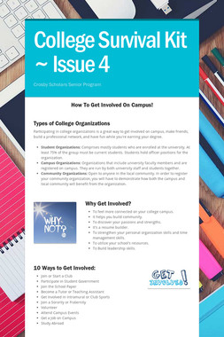 College Survival Kit ~ Issue 4