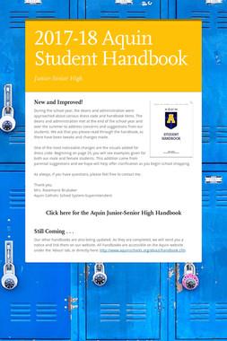 2017-18 Aquin Student Handbook