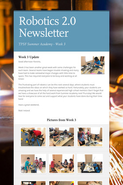 Robotics 2.0 Newsletter