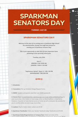 Sparkman Senators Day