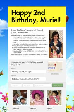 Happy 2nd Birthday, Muriel!
