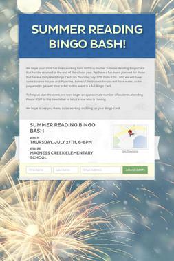 Summer Reading Bingo Bash!