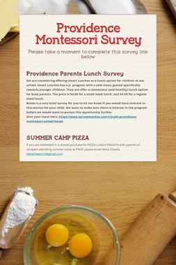 Providence Montessori Survey