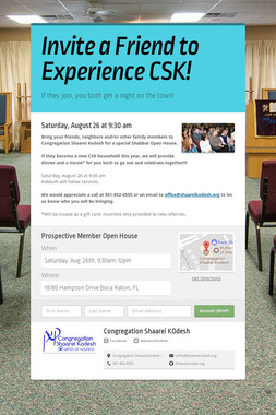 Invite a Friend to Experience CSK!