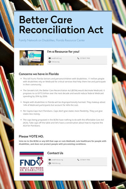Better Care Reconciliation Act