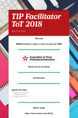 TIP Facilitator ToT 2018