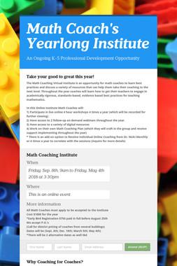Math Coach's Yearlong Institute