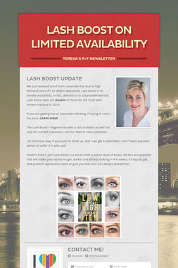 Lash boost on limited availability