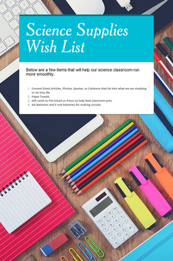 Science Supplies Wish List