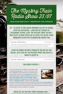 The Mystery Train Radio Show 23/07