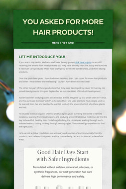You Asked for More Hair Products!