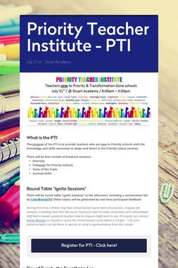 Priority Teacher Institute - PTI