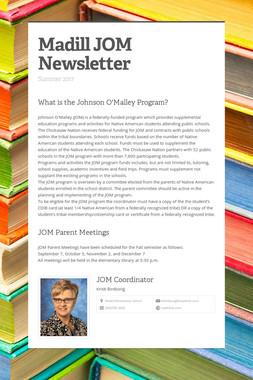 Madill JOM Newsletter