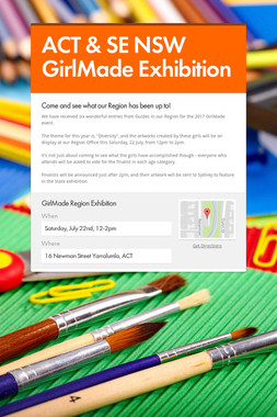ACT & SE NSW GirlMade Exhibition