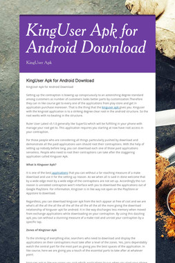 KingUser Apk  for Android Download