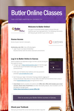 Butler Online Classes